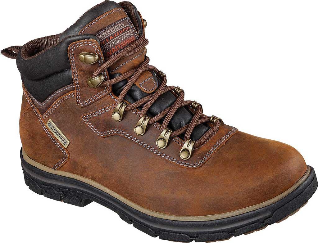 Men's Skechers Relaxed Fit Segment Ander Boot, Dark Brown, large, image 1