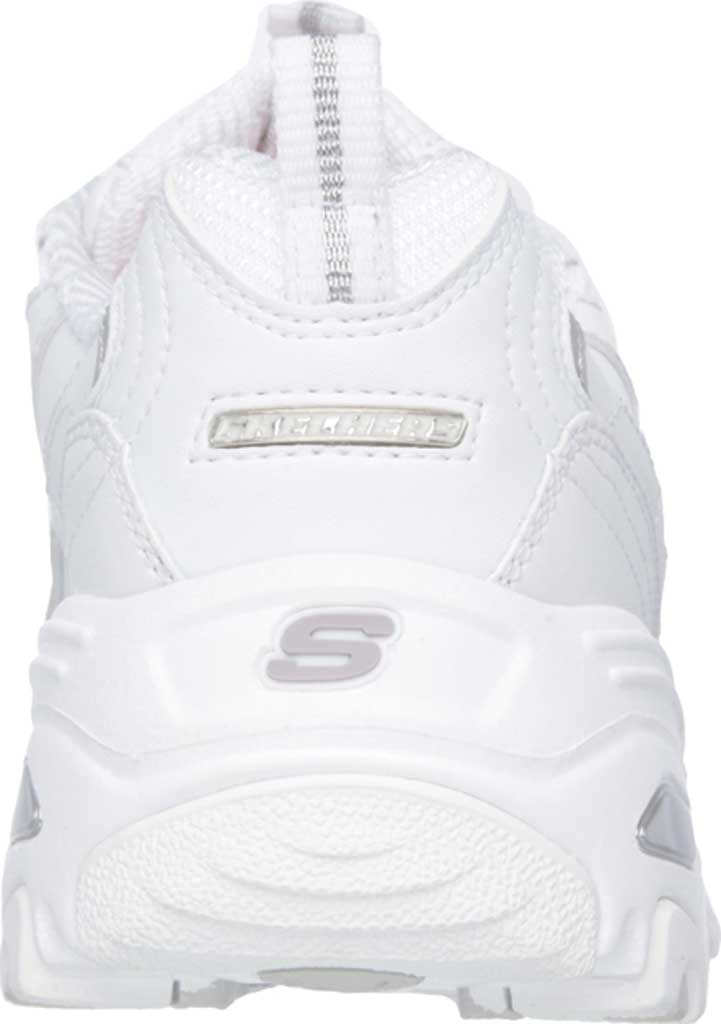 Women's Skechers D'Lites Sneaker, White/Silver, large, image 4
