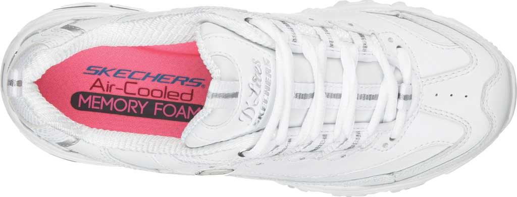 Women's Skechers D'Lites Sneaker, White/Silver, large, image 5