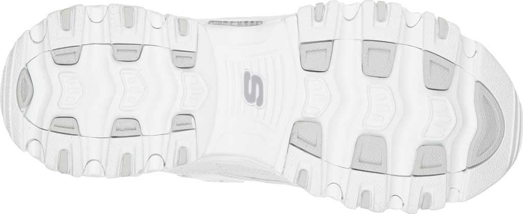 Women's Skechers D'Lites Sneaker, White/Silver, large, image 6