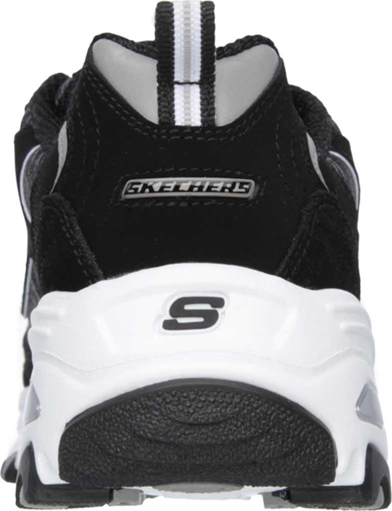Women's Skechers D'Lites Sneaker, Black/White, large, image 4