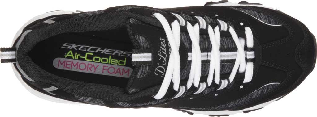 Women's Skechers D'Lites Sneaker, Black/White, large, image 5