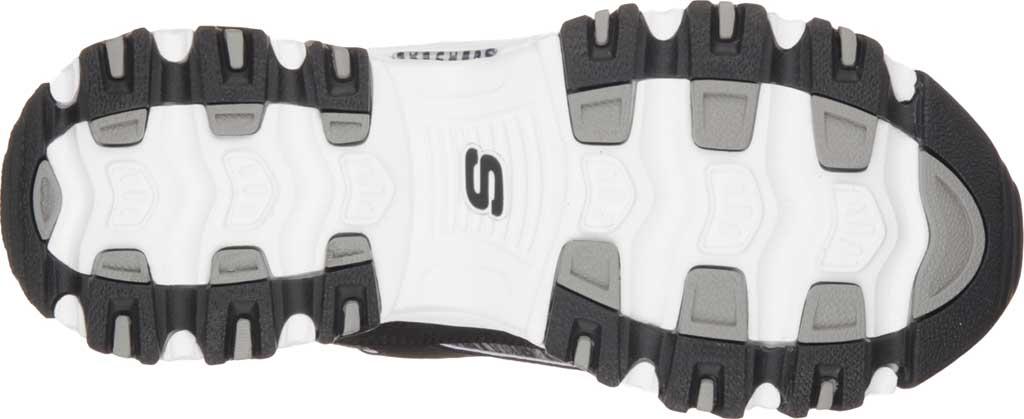 Women's Skechers D'Lites Sneaker, Black/White, large, image 6
