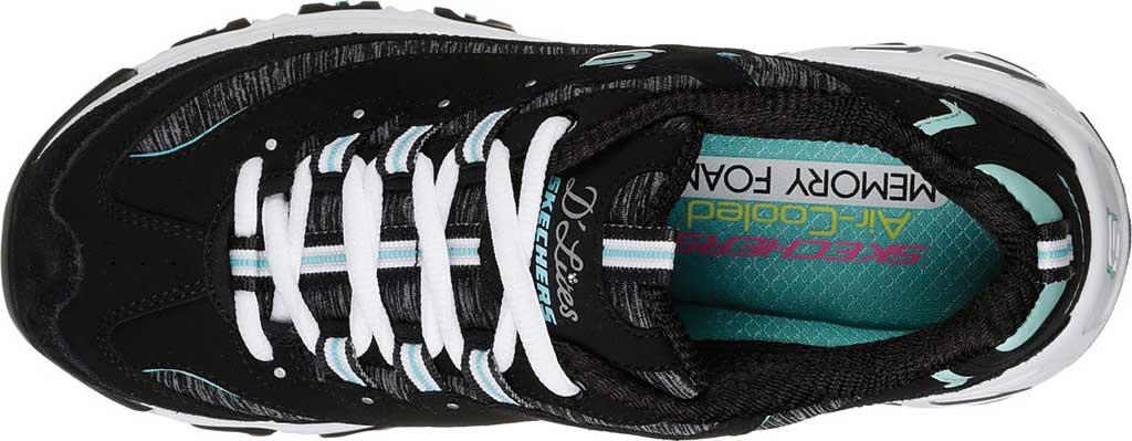 Women's Skechers D'Lites Sneaker, Black/Turquoise, large, image 5
