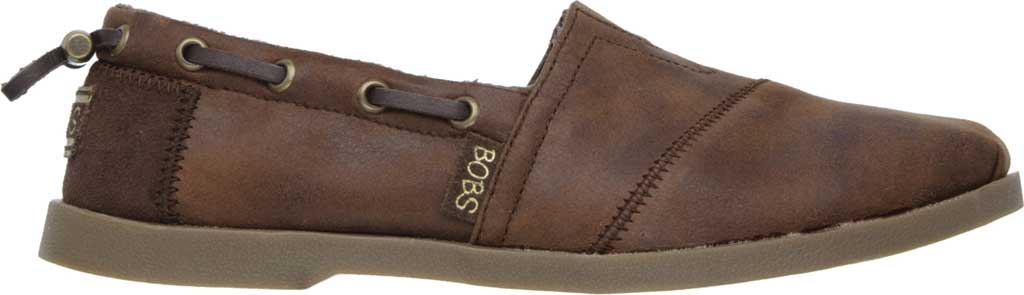 Women's Skechers BOBS Chill Luxe Buttoned Up Alpargata, Brown, large, image 2