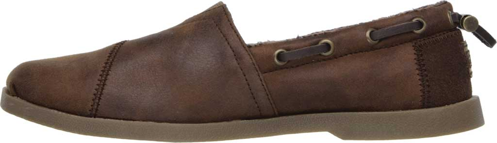 Women's Skechers BOBS Chill Luxe Buttoned Up Alpargata, Brown, large, image 3