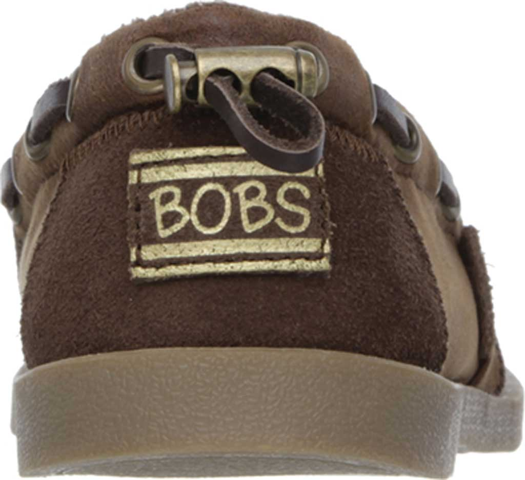 Women's Skechers BOBS Chill Luxe Buttoned Up Alpargata, Brown, large, image 4