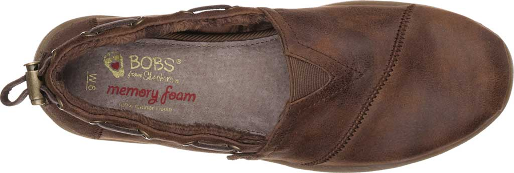 Women's Skechers BOBS Chill Luxe Buttoned Up Alpargata, Brown, large, image 5