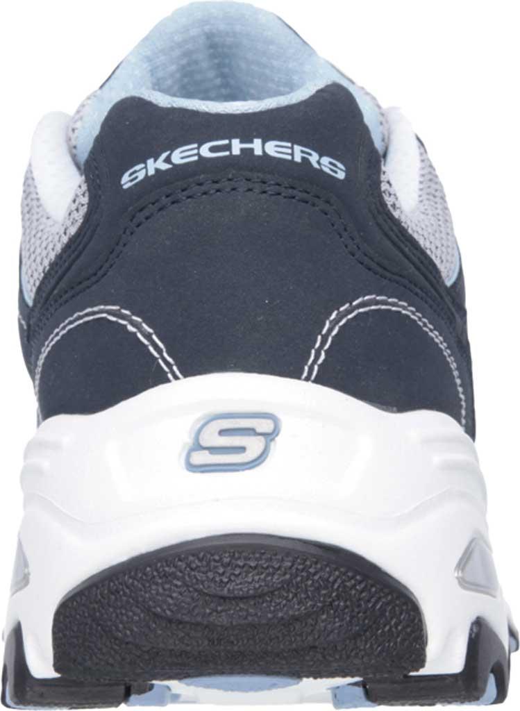 Women's Skechers D'lites Life Saver Sneaker, Navy/White/Light Blue, large, image 4