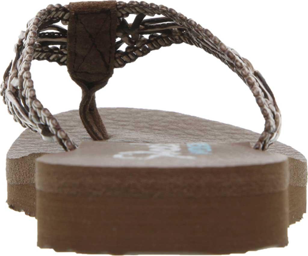 Women's Skechers Meditation Ocean Breeze Thong Sandal, Brown, large, image 4