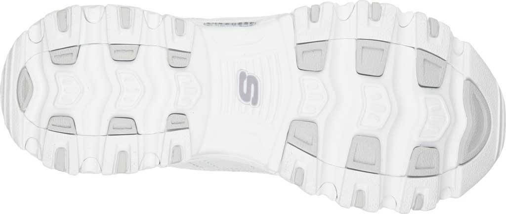 Women's Skechers D'Lites Bright Sky Backless Sneaker, White/Silver, large, image 6