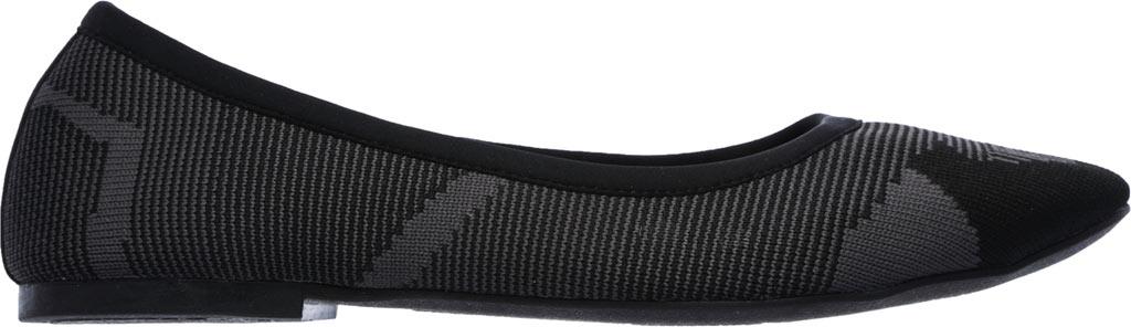 Women's Skechers Cleo Wham Flat, Black/Charcoal, large, image 2