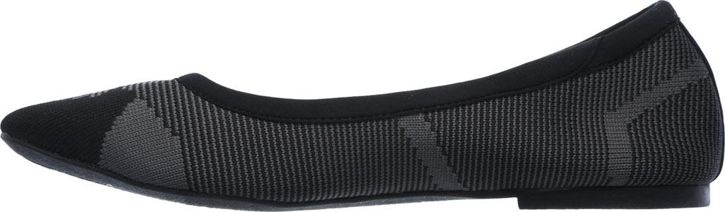 Women's Skechers Cleo Wham Flat, Black/Charcoal, large, image 3