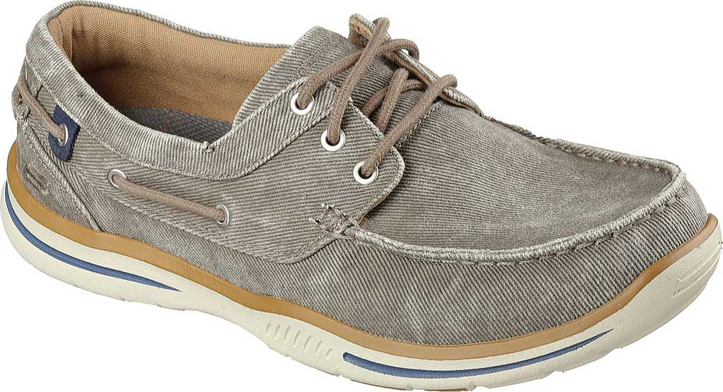 Men's Skechers Relaxed Fit Elected Horizon Boat Shoe, Light Brown, large, image 1