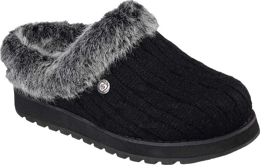 Women's Skechers BOBS Keepsakes Ice Angel Clog Slipper, Black, large, image 1