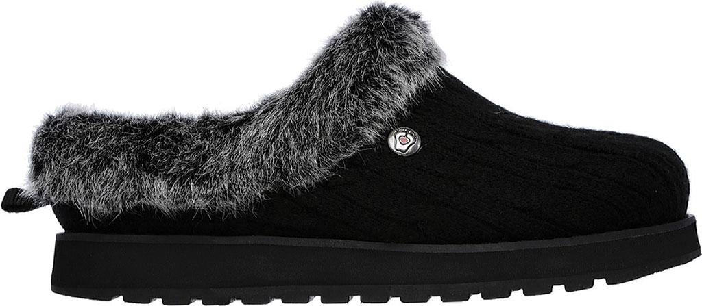 Women's Skechers BOBS Keepsakes Ice Angel Clog Slipper, Black, large, image 2