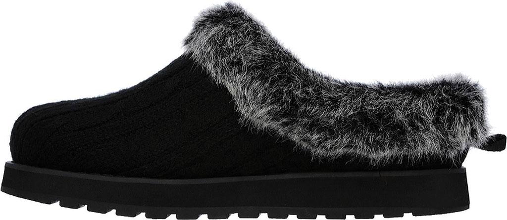 Women's Skechers BOBS Keepsakes Ice Angel Clog Slipper, Black, large, image 3