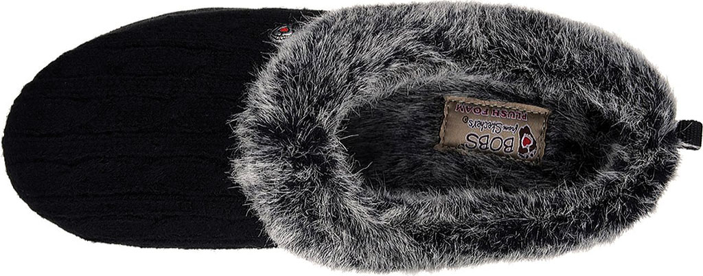 Women's Skechers BOBS Keepsakes Ice Angel Clog Slipper, Black, large, image 5