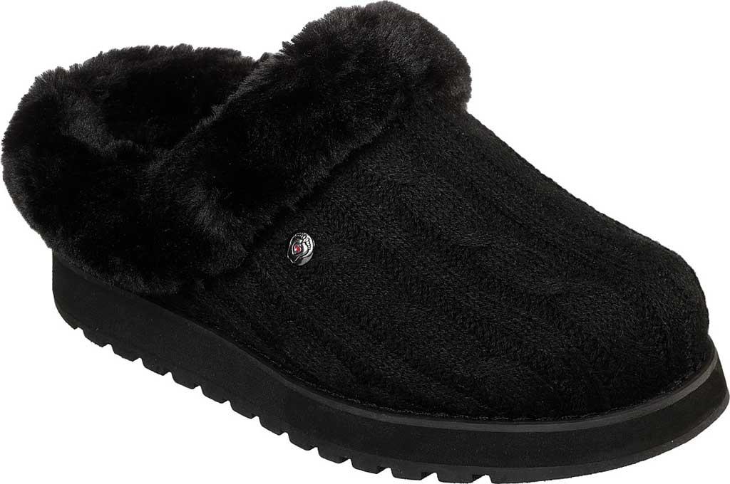 Women's Skechers BOBS Keepsakes Ice Angel Clog Slipper, Black/Black, large, image 1