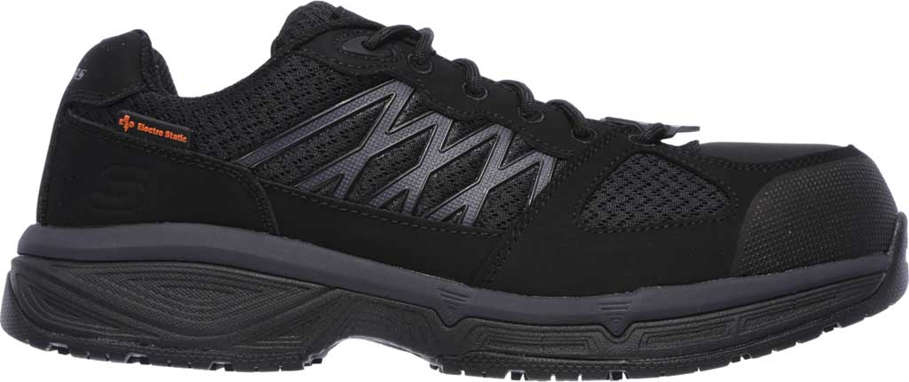 Men's Skechers Work Relaxed Fit Conroe Searcy ESD Work Sneaker, Black, large, image 2