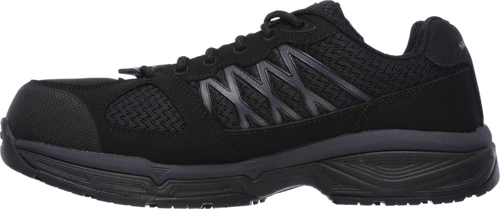 Men's Skechers Work Relaxed Fit Conroe Searcy ESD Work Sneaker, Black, large, image 3