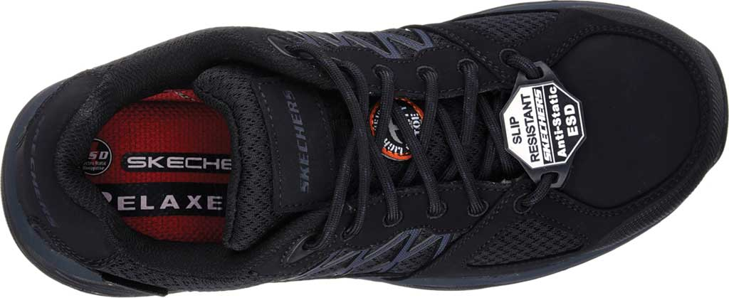 Men's Skechers Work Relaxed Fit Conroe Searcy ESD Work Sneaker, Black, large, image 5