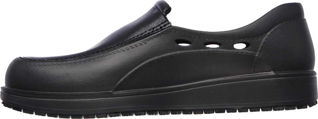 Men's Skechers Work Relaxed Fit Lorman Slip Resistant Loafer, Black, large, image 3