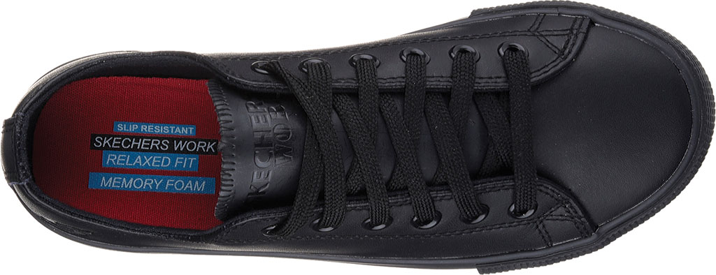 Women's Skechers Work Relaxed Fit Arispel Slip Resistant Sneaker, Black, large, image 5
