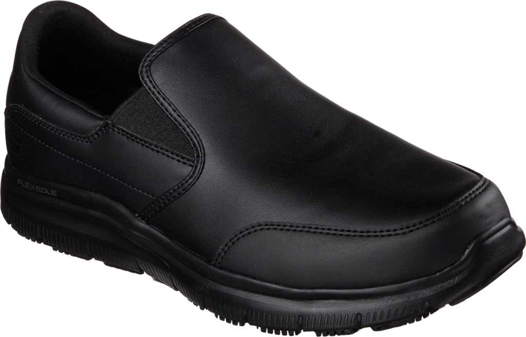Men's Skechers Work Relaxed Fit Flex Advantage SR Bronwood Loafer, Black, large, image 1