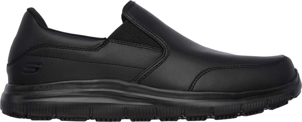 Men's Skechers Work Relaxed Fit Flex Advantage SR Bronwood Loafer, Black, large, image 2