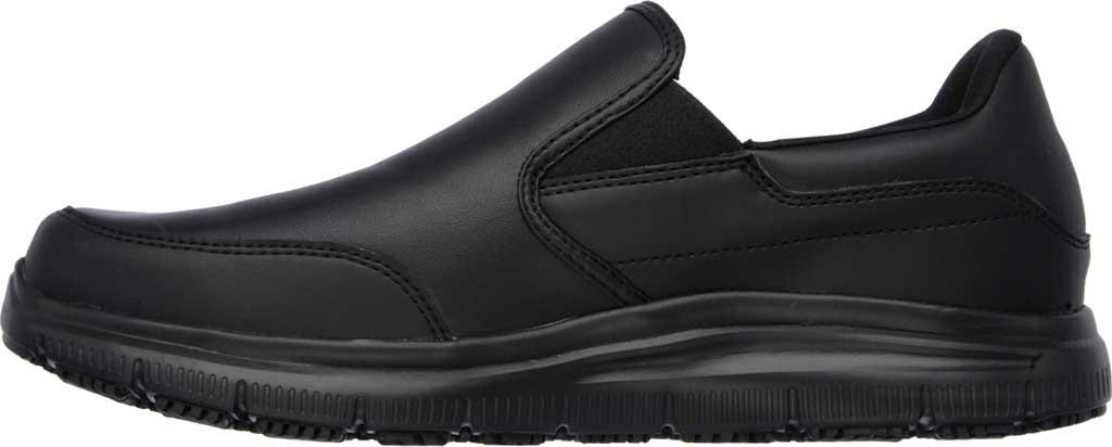 Men's Skechers Work Relaxed Fit Flex Advantage SR Bronwood Loafer, Black, large, image 3