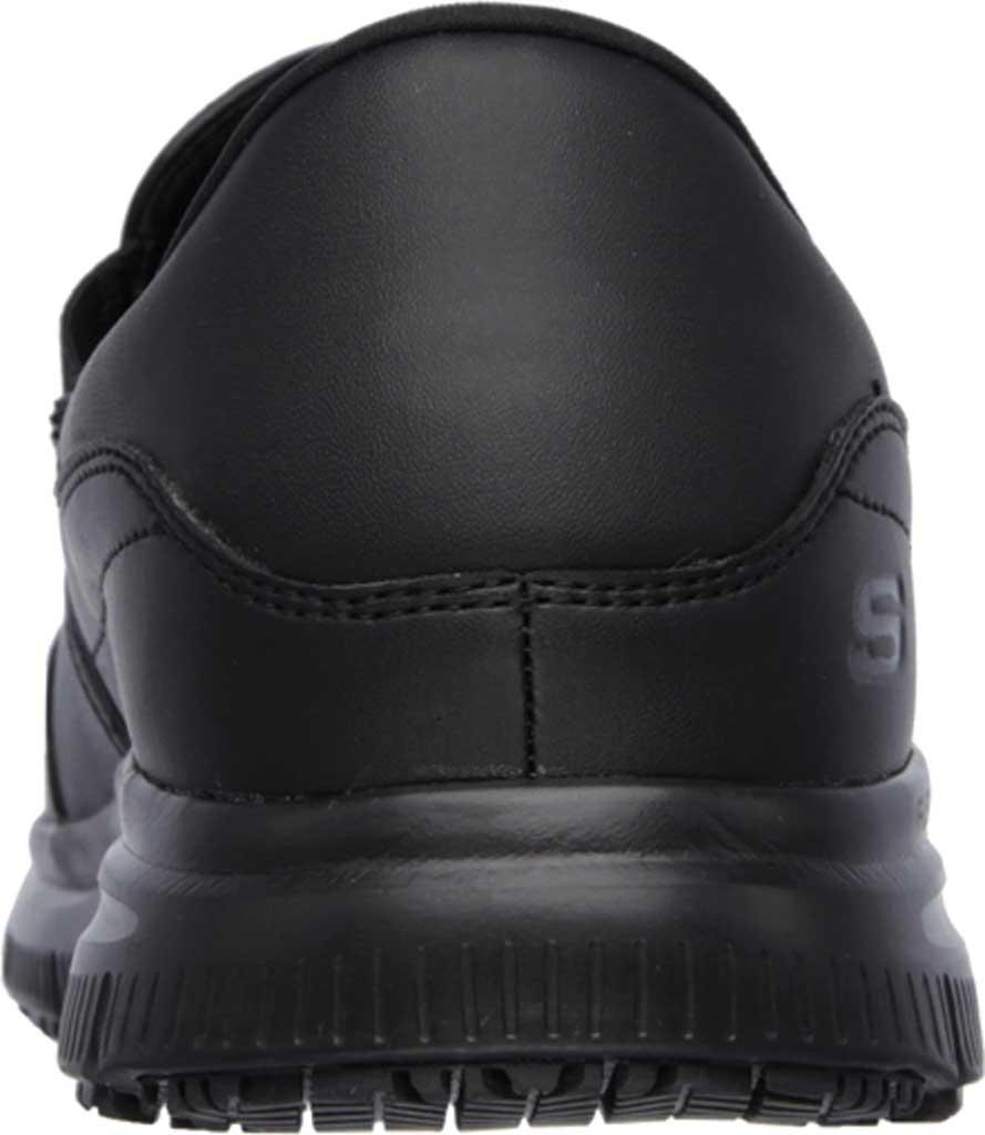 Men's Skechers Work Relaxed Fit Flex Advantage SR Bronwood Loafer, Black, large, image 4