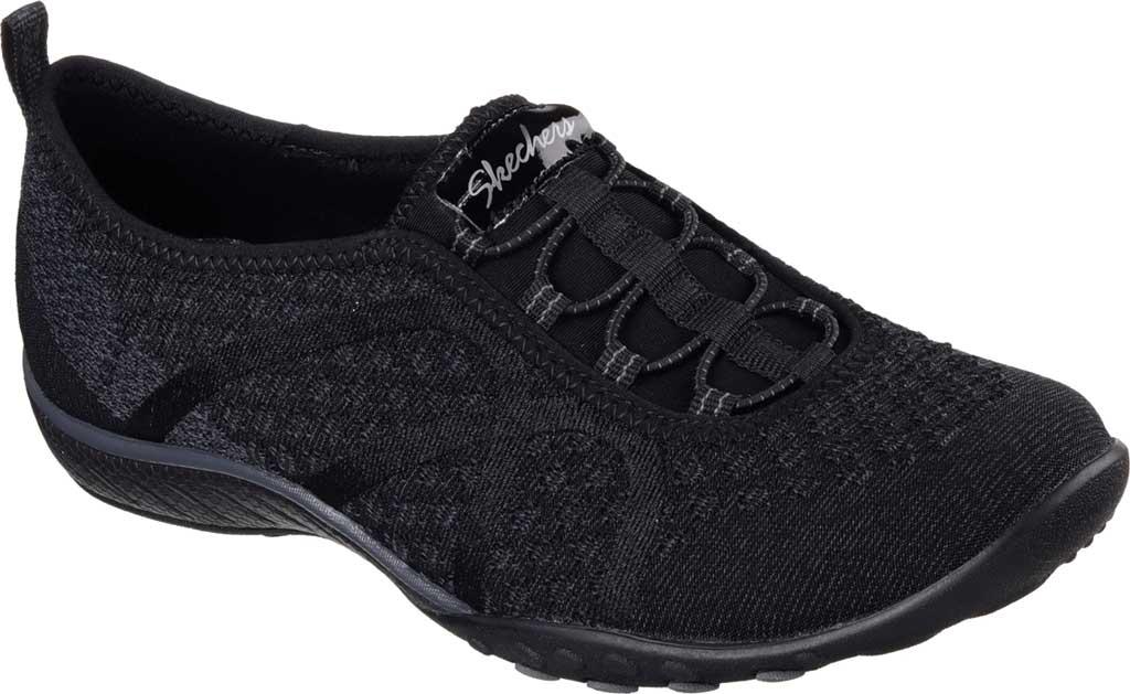 Women's Skechers Relaxed Fit Breathe Easy Fortune Knit Slip On, Black, large, image 1