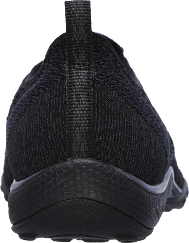 Women's Skechers Relaxed Fit Breathe Easy Fortune Knit Slip On, Black, large, image 4