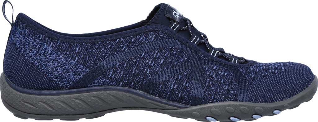 Women's Skechers Relaxed Fit Breathe Easy Fortune Knit Slip On, Navy, large, image 2