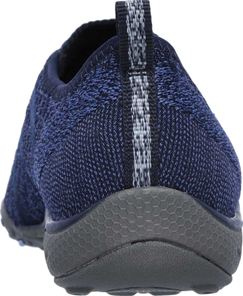 Women's Skechers Relaxed Fit Breathe Easy Fortune Knit Slip On, Navy, large, image 4