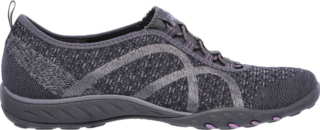 Women's Skechers Relaxed Fit Breathe Easy Fortune Knit Slip On, Charcoal, large, image 2
