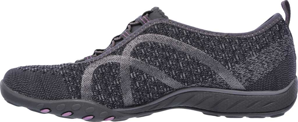 Women's Skechers Relaxed Fit Breathe Easy Fortune Knit Slip On, Charcoal, large, image 3