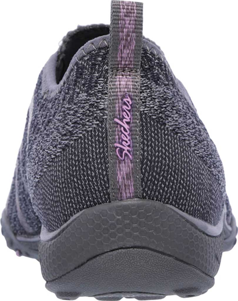 Women's Skechers Relaxed Fit Breathe Easy Fortune Knit Slip On, Charcoal, large, image 4