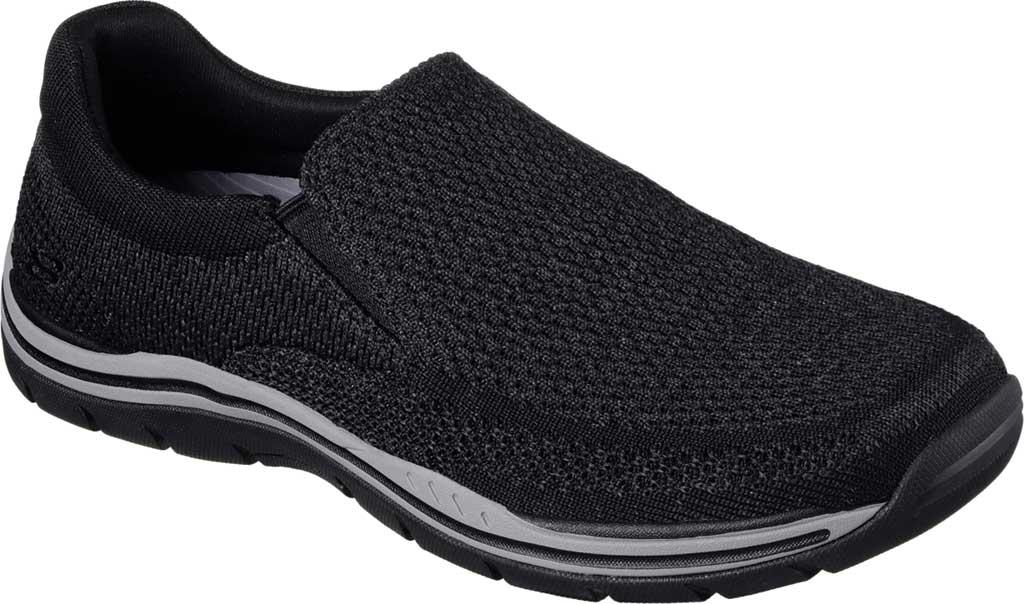 Men's Skechers Relaxed Fit Expected Gomel Slip On Sneaker, Black, large, image 1