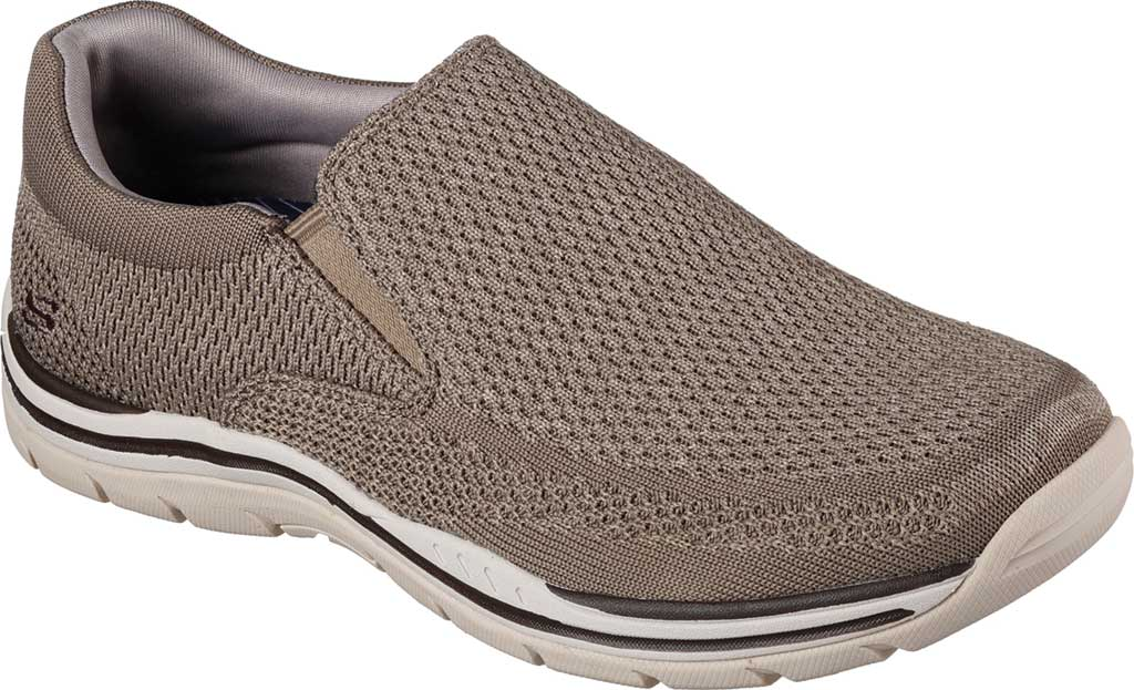 Men's Skechers Relaxed Fit Expected Gomel Slip On Sneaker, Taupe, large, image 1