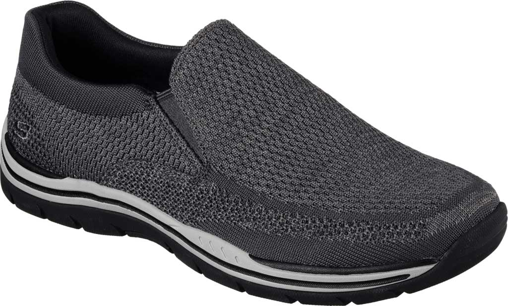 Men's Skechers Relaxed Fit Expected Gomel Slip On Sneaker, Gray, large, image 1