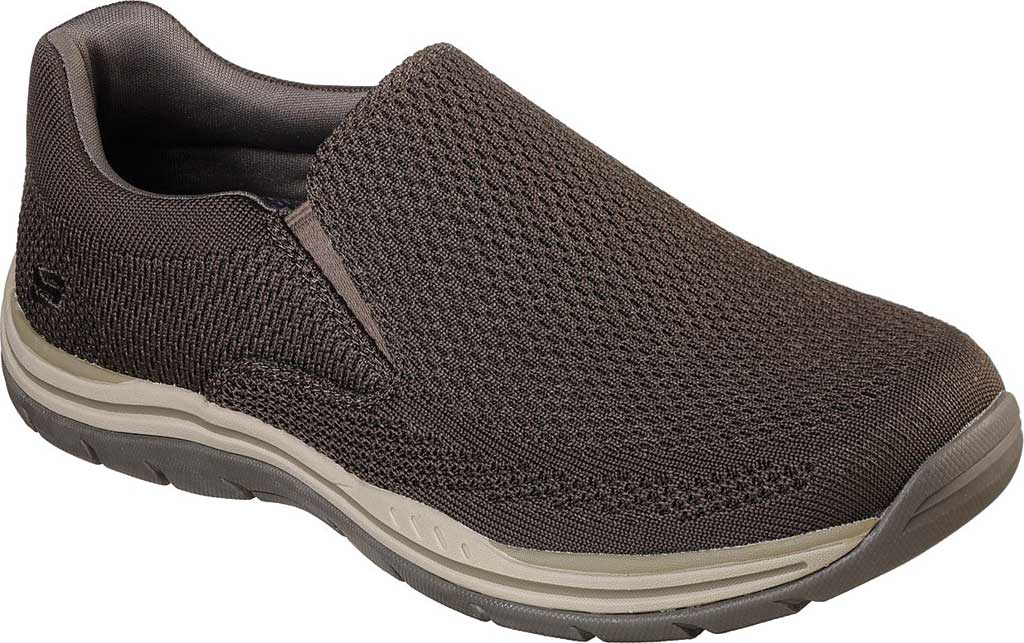 Men's Skechers Relaxed Fit Expected Gomel Slip On Sneaker, Olive/Brown, large, image 1