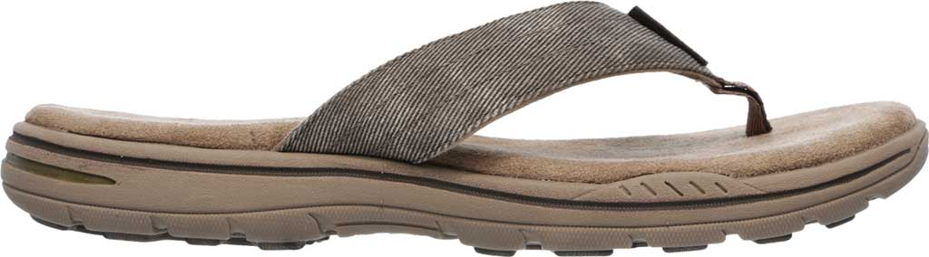 Men's Skechers Relaxed Fit Evented Rosen Thong Sandal, Khaki, large, image 2