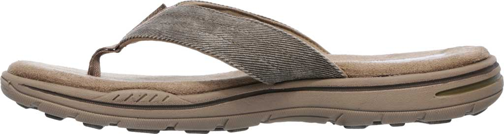 Men's Skechers Relaxed Fit Evented Rosen Thong Sandal, Khaki, large, image 3