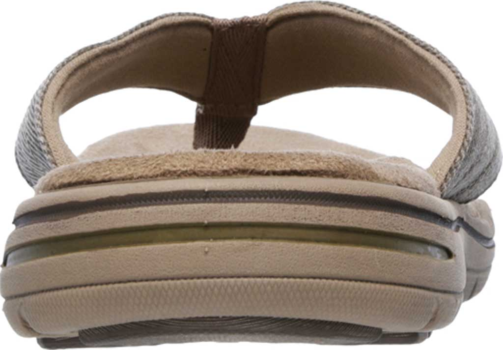 Men's Skechers Relaxed Fit Evented Rosen Thong Sandal, Khaki, large, image 4