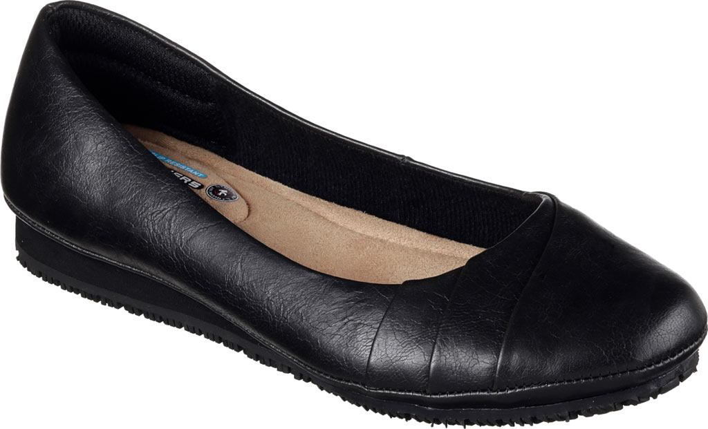 Women's Skechers Work Kincaid Callao Slip Resistant Work Flat, Black, large, image 1