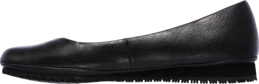Women's Skechers Work Kincaid Callao Slip Resistant Work Flat, Black, large, image 3