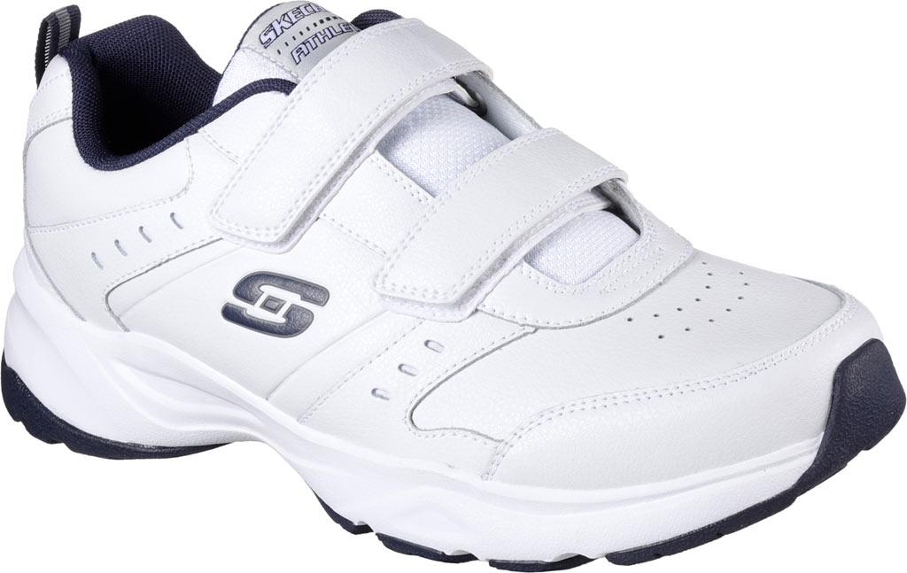 Men's Skechers Haniger Casspi Training Sneaker, White/Navy, large, image 1