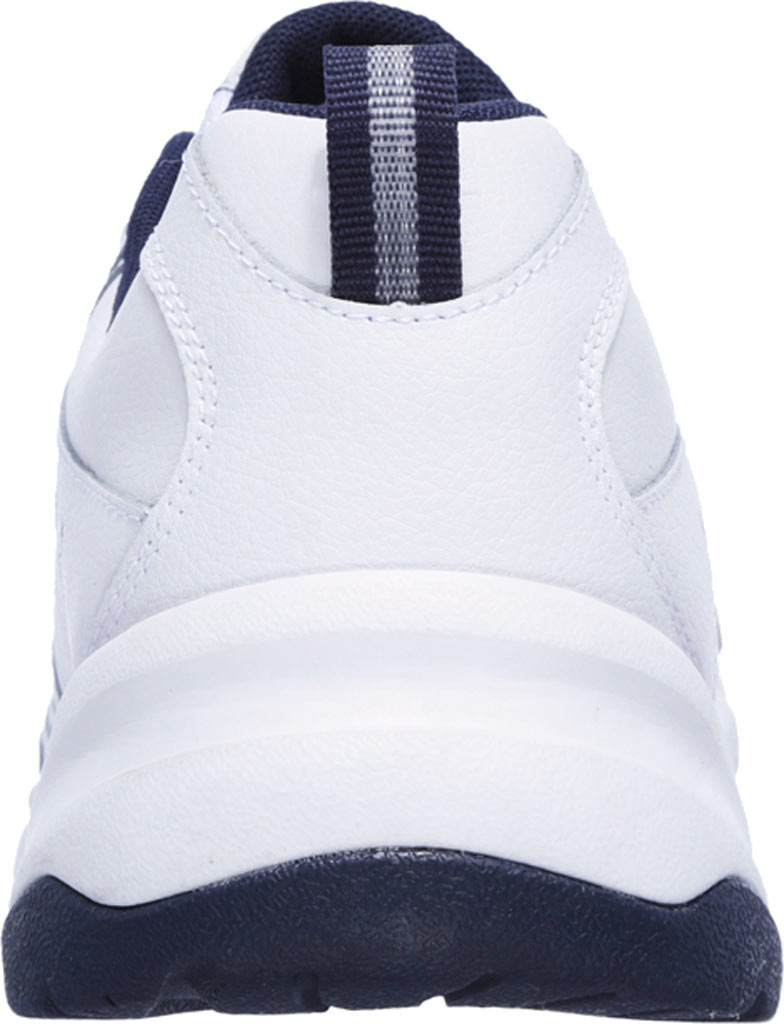 Men's Skechers Haniger Casspi Training Sneaker, White/Navy, large, image 4